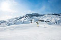 The ski lifts in shahdag mountain skiing resort Royalty Free Stock Photos
