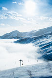 The ski lifts in shahdag mountain skiing resort royalty free stock photos