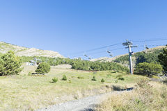 Ski lifts in the ski resort Stock Photography