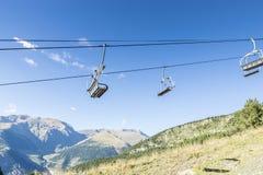 Ski lifts in the ski resort Stock Image