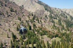 Ski lifts to Shymbulak ski resort Royalty Free Stock Photos
