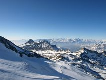 Ski line. In the Alpes Royalty Free Stock Images