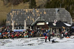 Ski Lodge Edelweiss, Ski Resort Gerlitzen, Carinthia, South Austria Stock Images