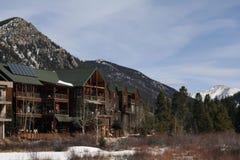 Ski Lodges Royalty Free Stock Images