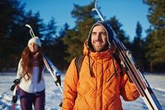 Ski Lovers Photo libre de droits
