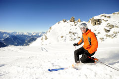 Ski man Stock Photography