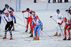Ski marathon Stock Photo