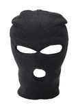 Ski Mask. Black Ski Mask With Copy Space Cut Out stock image