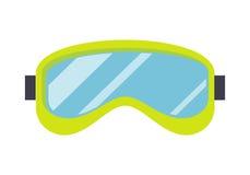 Ski Mask Isolated . Snowboard Glasses. Sport equipment for winter recreation activities. Ski goggle glasses for extreme winter sport. Snowboard mask eyes Stock Photos