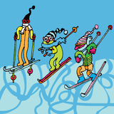 Ski men Royalty Free Stock Image