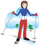 ski mignon de fille Images stock