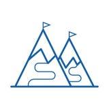 Ski Mountain Icon Photos libres de droits