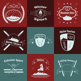 Ski and mountain logos Royalty Free Stock Photos