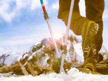 Ski mountain poles Royalty Free Stock Photo