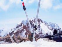 Ski mountain poles Stock Images