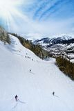 Ski mountain slopes Stock Photos