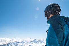 Ski mountaineer in winter Stock Images