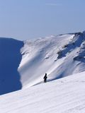 Ski mountaineering. Or cross country skiing in Swiss Alps Stock Image