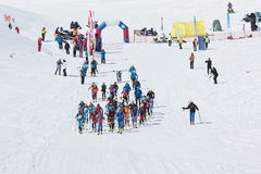 Ski mountaineering Championships: mass start race Stock Image
