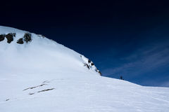 Ski mountaineering. On Magehorn in swiss alps Stock Images