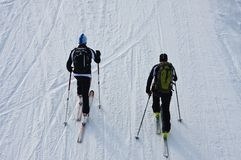 Ski mountaineers Royalty Free Stock Photography
