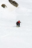 Ski mountaineers Stock Images