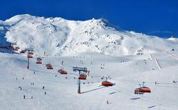 Ski neigt sich Solden stockbild