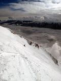 Ski Nordkatte Stockfotografie