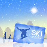Ski pass Royalty Free Stock Photos