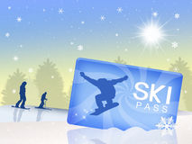 Ski pass Royalty Free Stock Photography