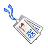 Ski pass vector illustration Royalty Free Stock Photo