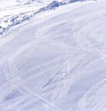 Ski path stock photos