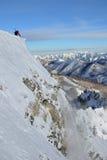 Ski patrol controlling avalanches royalty free stock photos