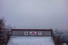 Ski patrol emergency building in north carolina Royalty Free Stock Photo