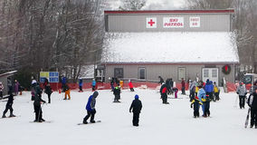 Ski patrol emergency building in north carolina Stock Photo