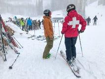 Free Ski Patroller Stock Image - 138745581