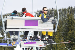 Ski People - winter resort royalty free stock photography