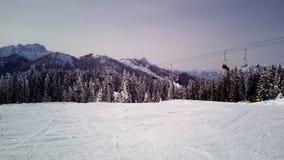 Ski pist Stockfoto