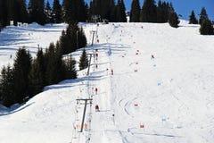 Ski Piste in Österreich lizenzfreie stockfotos