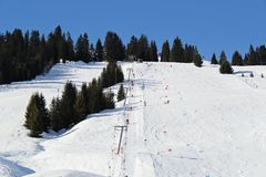 Ski Piste in Österreich lizenzfreie stockbilder