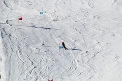 Ski Piste in Österreich stockbild