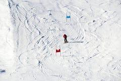 Ski Piste in Österreich stockfotografie