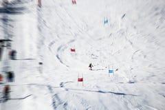 Ski Piste in Österreich lizenzfreie stockfotografie