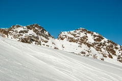 Ski piste Royalty Free Stock Photo