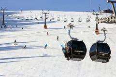 Ski Piste lizenzfreies stockbild