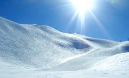 Ski Piste Stockfotos