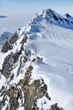 Ski piste in the Alps Royalty Free Stock Images