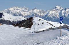 Ski piste in the Austrian Alps Stock Photos