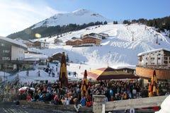 Ski Piste em Lech, Áustria fotografia de stock royalty free