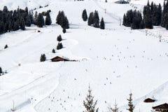 Ski Piste em Lech Austria imagens de stock